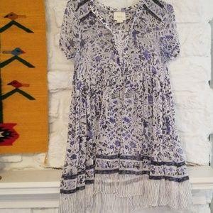 Anthropologie Maeve Sheer Tunic Dress SZ 2
